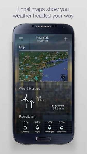 دانلود Yahoo Weather 1.30.60 برنامه اندروید پیش بینی آب و هوا یاهو