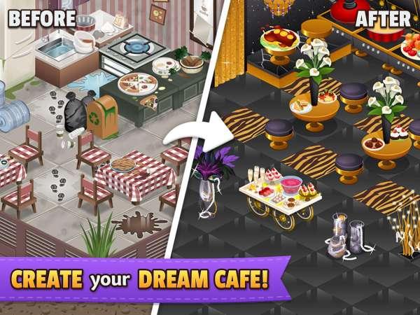 دانلود Cafeland – World Kitchen 2.1.85 بازی کافه و جهان آشپزی اندروید + مود
