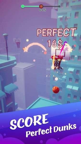 دانلود Color Dunk 3D 1.2.14 بازی اندروید دوست داشتنی بسکتبال رنگی + مود