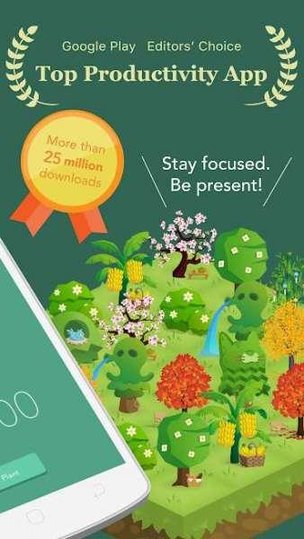 دانلود Forest: Stay focused Full 4.35.1 برنامه اندروید ترک اعتیاد