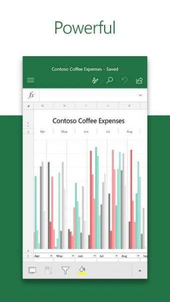 دانلود Microsoft Excel 16.0.14527.20162 نرم افزار مایکروسافت اکسل برای اندروید