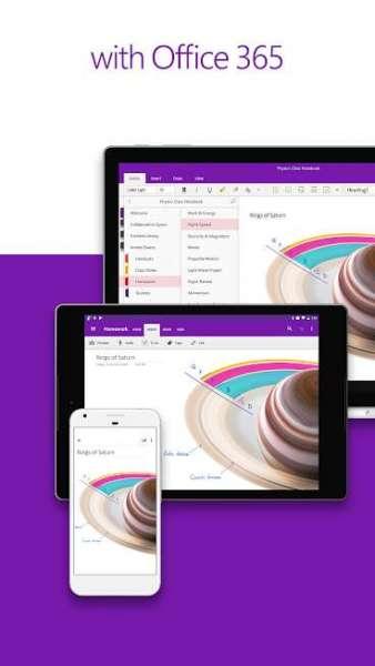 دانلود OneNote 16.0.13231.20396 نرم افزار دفتر یادداشت اندروید OneNote