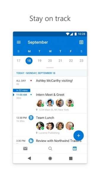دانلود Microsoft Outlook 4.2041.3 برنامه مدیریت ایمیل آوت لوک مایکروسافت اندروید