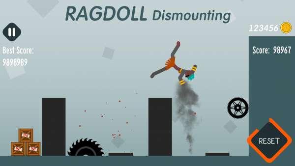 دانلود Ragdoll Dismounting 1.63 بازی اندورید سقوط عروسک آدمکی + مود