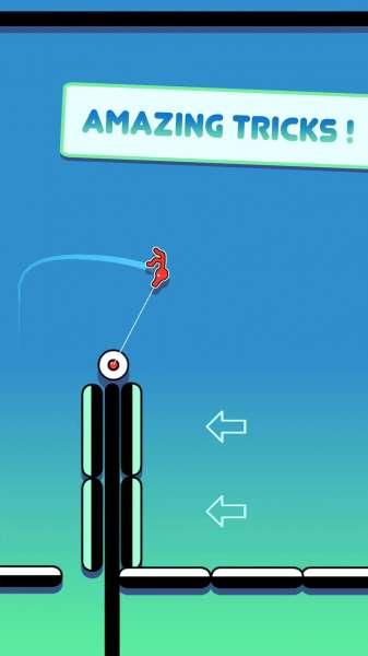 دانلود Stickman Hook 3.7.5 بازی اندروید آرکید قلاب استیکمن + مود
