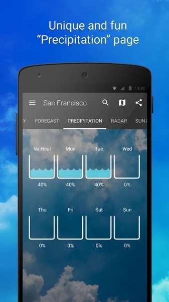 دانلود 1Weather:Widget Forecast Radar 5.1.3.1 برنامه هواشناسی وان ودر اندروید