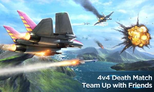 دانلود Air Combat OL: Team Match 5.4.1 بازی شبیه سازی نبردهای هوایی اندروید + دیتا