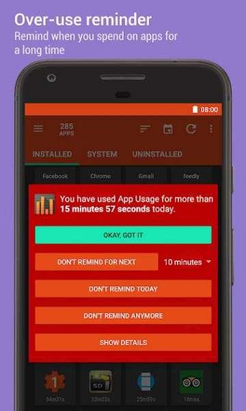 دانلود App Usage Manage Track Usage 5.12 برنامه مدیریت حرفه ای اپلیکیشن های اندروید