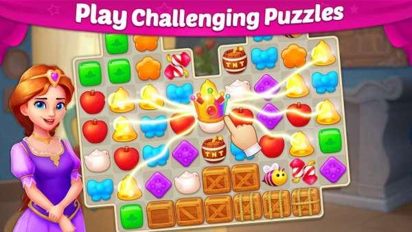 دانلود Castle Story: Puzzle & Choice 1.38.4 بازی پازلی و تغییر دکوراسیون داستان قلعه اندروید + مود