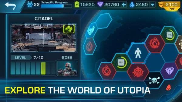 دانلود Evolution 2: Battle for Utopia 0.534.74534 بازی تیراندازی سیر تکاملی 2 نبرد برای شهر اندروید + مود + دیتا
