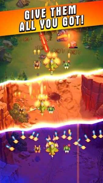 دانلود HAWK – Force of an Arcade Shooter. Shoot 'em up 35.0.25487 بازی آرکید نبرد سفینه های فضایی اندروید + دیتا