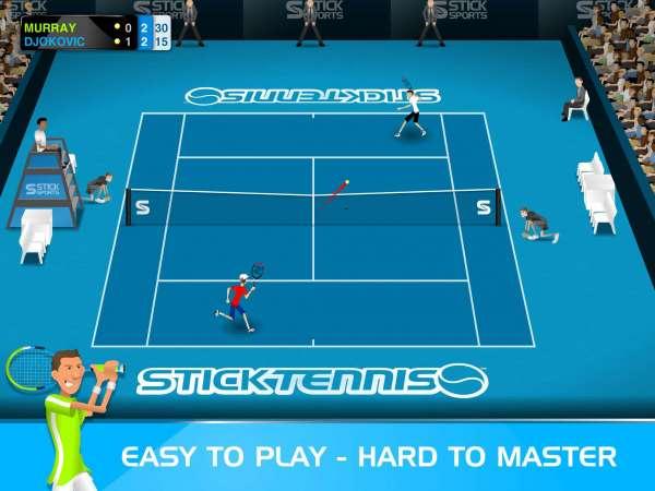 دانلود Stick Tennis 2.9.1 بازی ورزشی و زیبای راکت تنیس اندروید + مود