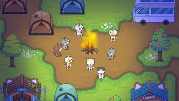 دانلود Cat Forest – Healing Camp 2.2 بازی تفننی و کودکانه اردوگاه های گربه ها اندروید + مود