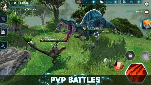 دانلود Dino Tamers – Jurassic Riding 2.13 بازی ماجراجویی مدیریت دایناسور های محل گردشگری ژوراسیک اندروید + مود