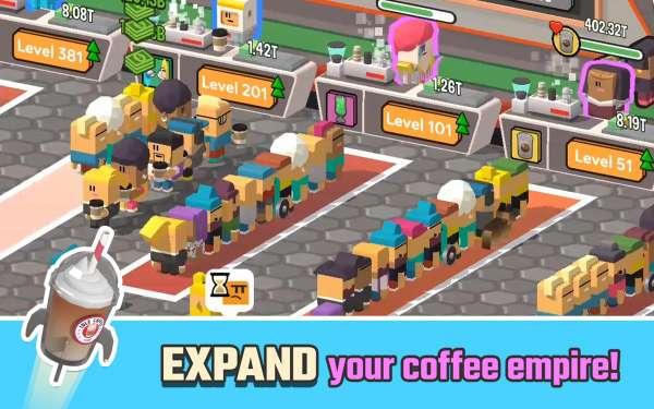 دانلود Idle Coffee Corp 2.28.0 بازی شبیه سازی جذاب کافه دار قهوه اندروید + مود