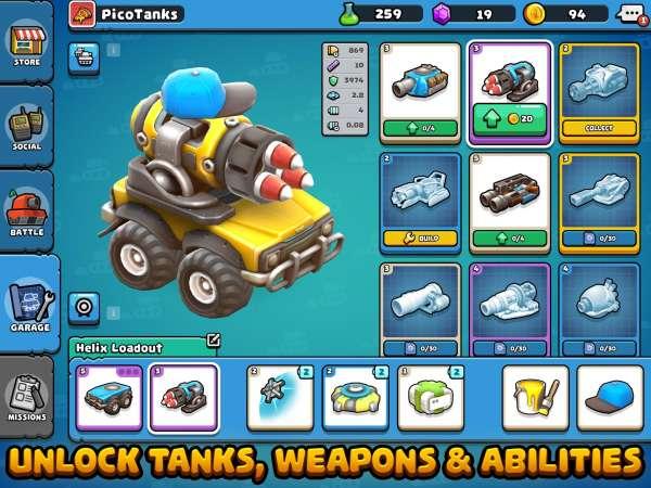 دانلود Pico Tanks: Multiplayer Mayhem 44.3.0 بازی جنگی و اکشن نبرد تانک های پیکو اندروید + مود + دیتا
