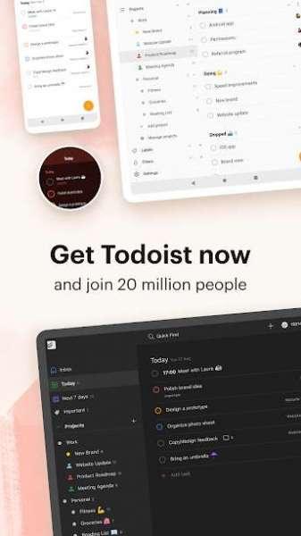 دانلود Todoist: To-Do List, Tasks & Reminders Premium 8586 برنامه لیست و زمان بندی کارهای روزانه اندروید