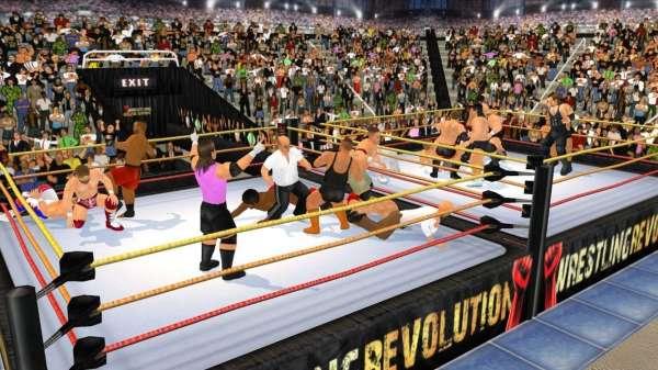 دانلود Wrestling Revolution 3D 1.710 بازی مبارزه ای کشتی کج انقلابی اندروید + مود