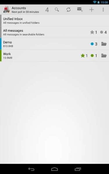 دانلود K-9 Mail 5.717 برنامه مدیریت انواع ایمیل ها در اندروید
