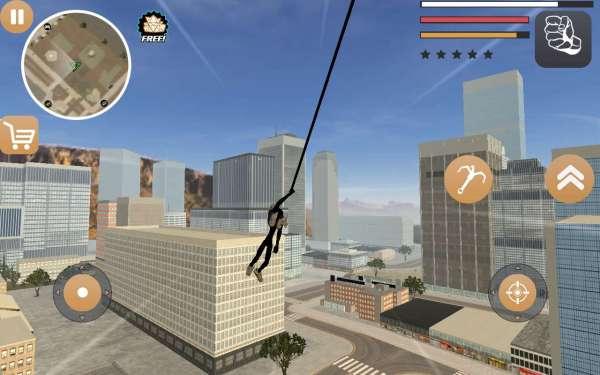 دانلود Stickman Rope Hero 2 3.0.3 بازی اکشن قهرمان طناب دار استیکمن 2 اندروید + مود