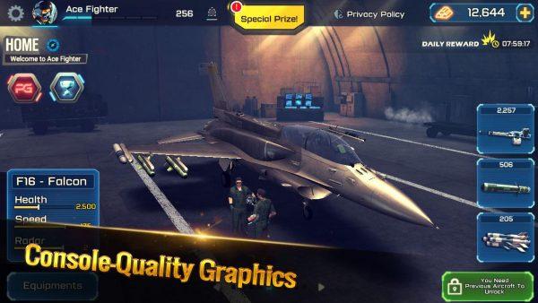 دانلود Ace Fighter: Modern Air Combat Jet Warplanes 2.64 بازی اکشن هواپیما جنگنده مردن تک خال اندروید