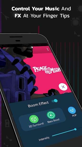 دانلود Boom: Music Player with 3D Surround Sound and EQ Premium 2.6.2 برنامه اندروید پخش موزیک بوم با صدای سه بعدی