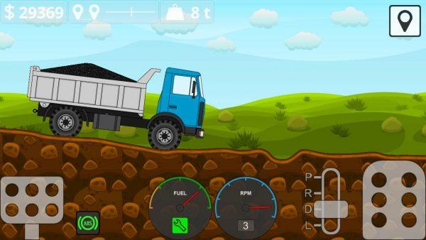 دانلود Mini Trucker – 2D offroad truck 1.6.1 بازی اندروید شبیه سازی کامیون های باربر کوچک در جاده های ناهموار