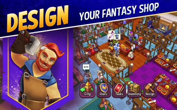 دانلود Shop Titans: Epic Idle Crafter 5.2.1 بازی شبیه سازی فروشگاه تایتان ها اندروید + مود + دیتا