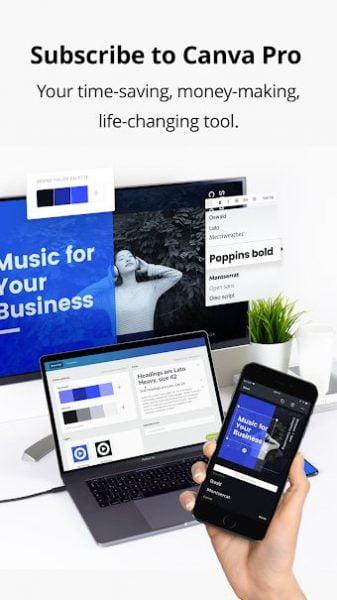دانلود Canva: Graphic Design & Logo, Flyer, Poster maker Premium 2.101.0 برنامه ساخت طرح ها گرافیکی ، پوستر و لوگو اندروید