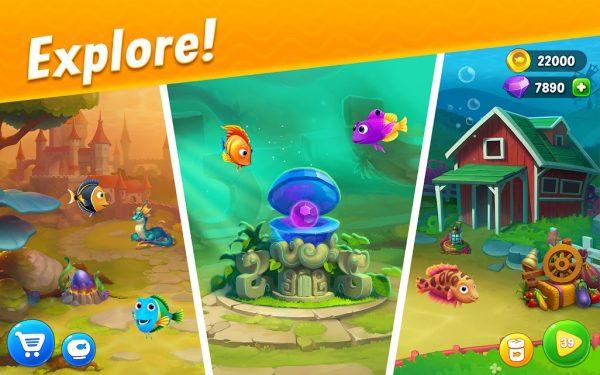 دانلود Fishdom: Deep Dive 5.94.0 بازی پازل ماهیگیری در اعماق دریا  اندروید + مود