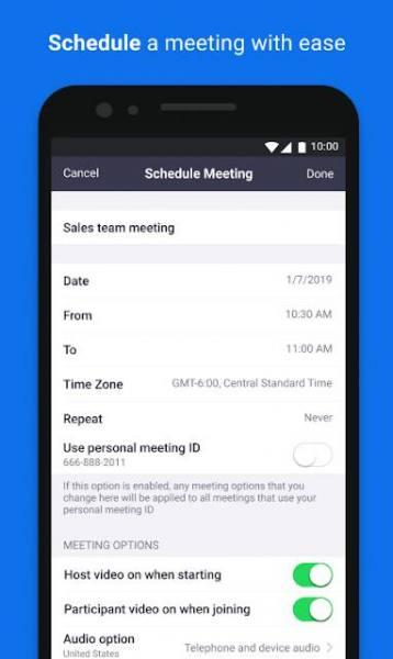 دانلود ZOOM Cloud Meetings 5.3.53291.1011 نرم افزار برگزاری جلسات آنلاین اندروید