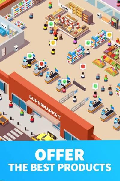 دانلود Idle Supermarket Tycoon – Tiny Shop Game 2.3.4 بازی شبیه سازی سرمایه دار موفق سوپرمارکت اندروید + مود