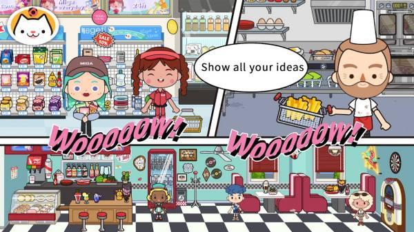 """دانلود Miga Town: My World 1.35 بازی شبیه سازی """"شهر میگا""""""""دنیای من"""" اندروید + مود + دیتا"""