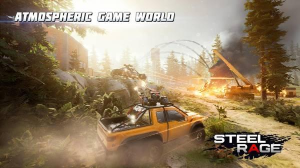 "دانلود Steel Rage: Mech Cars PvP War 0.179 بازی اکشن ""خشم فولادی"" اندروید + مود"