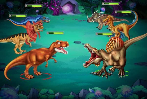 دانلود Dino Battle 12.01 بازی نقش آفرینی و زیبای نبرد دایناسورها  اندروید + مود