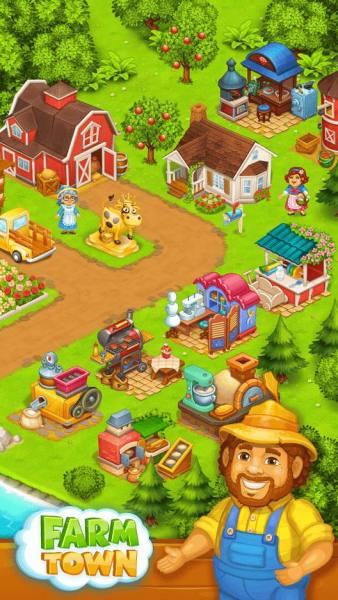 دانلود Farm Town: Happy farming 3.55 بازی کشاورزی و تفننی شهرک مزرعه داری اندروید + مود