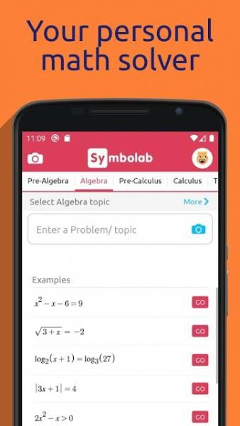دانلود Symbolab – Math solver 9.2.0 برنامه حل فرمول و مسائل ریاضی اندروید + مود