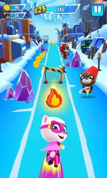 دانلود Talking Tom Hero Dash – Run Game 1.9.2.1108 بازی اکشن تام سخنگوی قهرمان اندروید