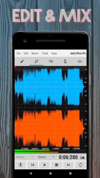 دانلود WavStudio Audio Recorder & Editor Full 1.97 برنامه ضبط و ویرایش حرفه ای صدا مخصوص اندروید