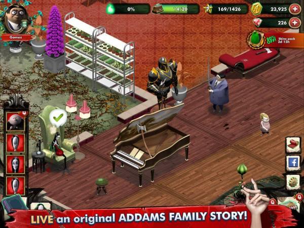 دانلود Addams Family: Mystery Mansion 0.3.8 بازی ماجراجویی خانوداه آدامز و عمارت راز آلود اندروید + مود
