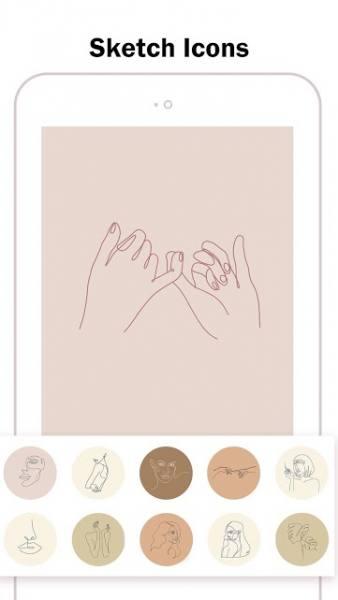 دانلود Highlight Cover Maker for Instagram Story 2.4.1 اپلیکیشن ساخت کاور برای هایلات اینستاگرام  اندروید