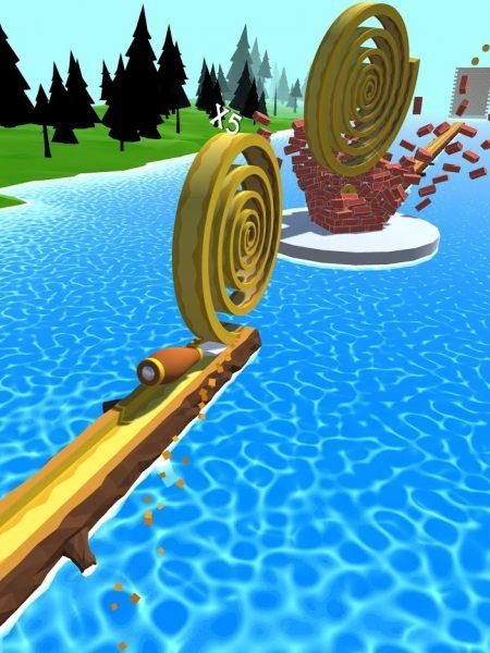 دانلود Spiral Roll 1.12.0 بازی آرکید و دوست داشتنی مارپیچ چوبی اندروید + مود