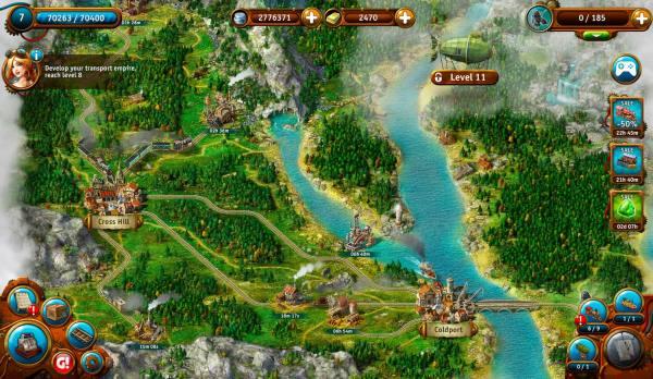دانلود Transport Empire: Steam Tycoon 3.0.32 بازی شبیه سازی امپراطوری حمل و نقل اندروید + مود