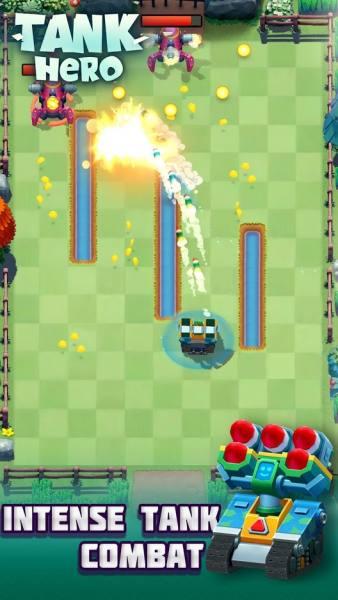 دانلود Tank Hero – Fun and addicting 1.7.4 بازی اکشن و آرکید قهرمان تانک در نبرد اندروید + مود