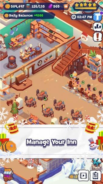 دانلود Idle Inn Tycoon 0.65 بازی شبیه سازی مدیریت مسافرخانه اندروید + مود