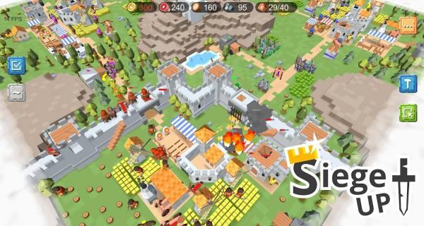 دانلود RTS Siege Up! – Medieval Warfare Strategy Offline 1.1.74 بازی استرتژیکی محاصره اندروید + مود