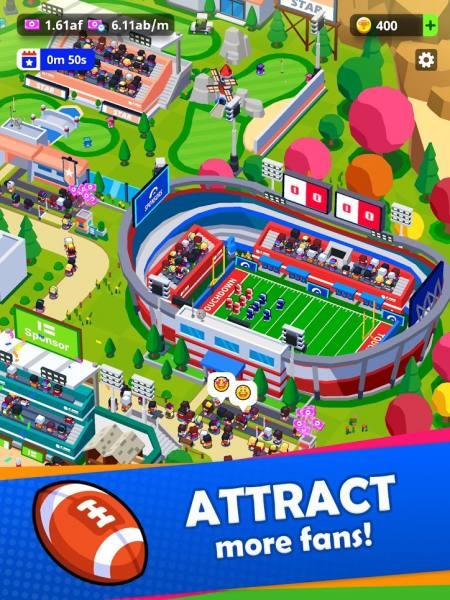 دانلود Sports City Tycoon 1.12.4 بازی شبیه سازی سرمایه دار ورزش های شهری اندروید + مود
