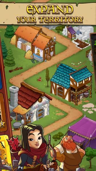 دانلود Royal Idle: Medieval Quest 1.35 بازی شبیه سازی پادشاه قرون وسطی اندروید + مود