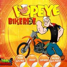بازی آنلاین موتور سواری ملوان زبل Popeye Bike